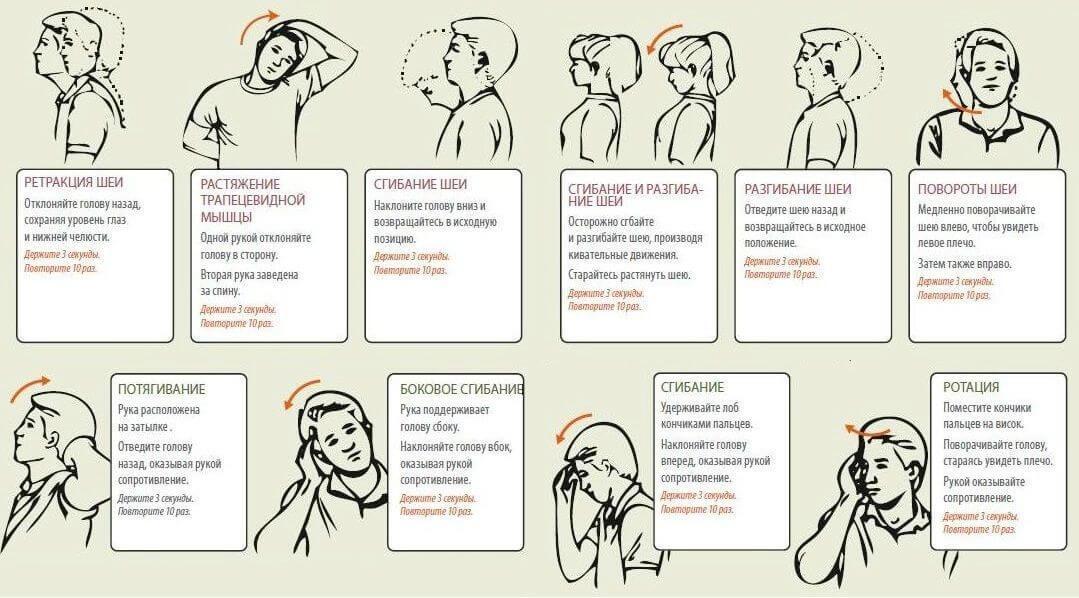 Упражнения на шейный хондроз в домашних условиях
