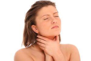 Как диагностировать ком в горле на фоне остеохондроза