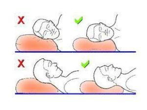 Положение головы во сне