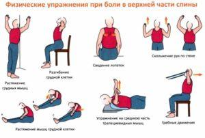 Упражнения в верхней части спины