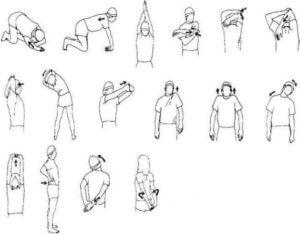 Упражнения стоя для спины