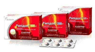Таблетки рапидол 500 мг №12: цена, инструкция, отзывы, купить в.